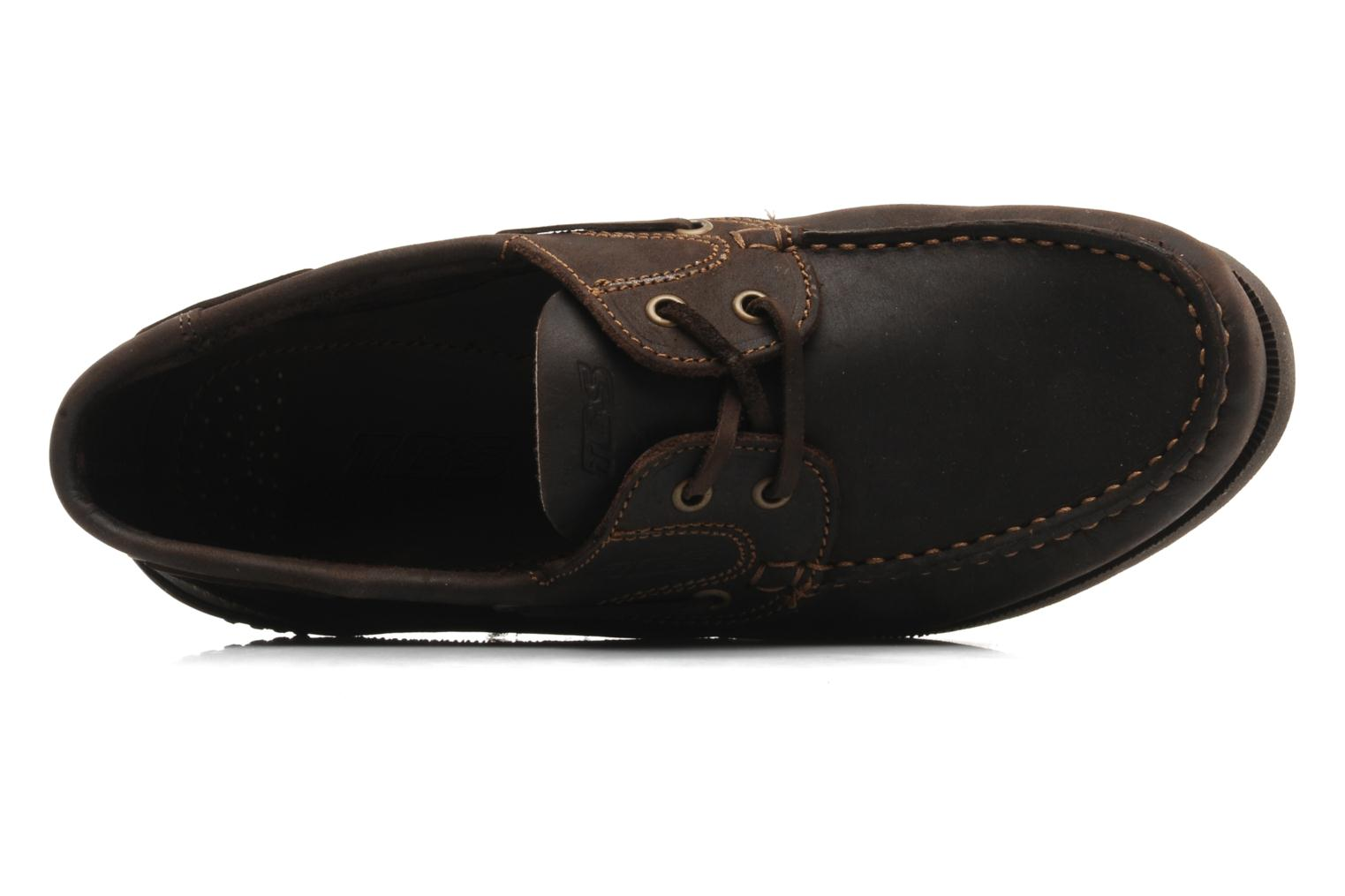 Lace-up shoes TBS Hauban Brown view from the left