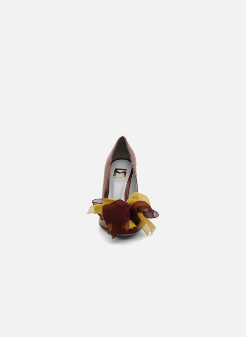 High heels Fred Marzo Kristin Burgundy model view