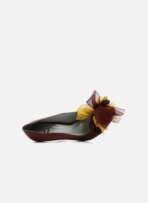 High heels Fred Marzo Kristin Burgundy view from the left