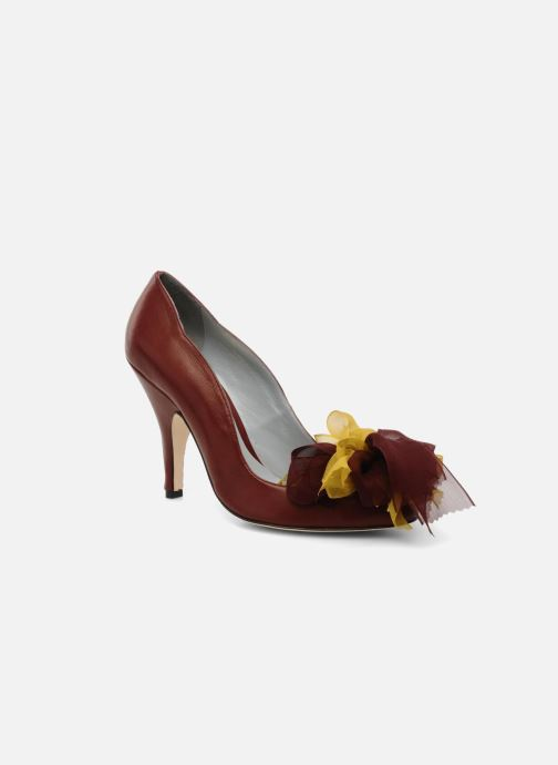 High heels Fred Marzo Kristin Burgundy detailed view/ Pair view