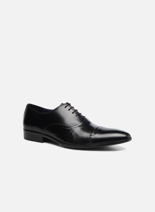 Snøresko Brett & Sons Garry Sort detaljeret billede af skoene