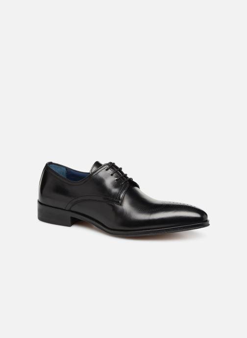 Snøresko Brett & Sons Mark Sort detaljeret billede af skoene