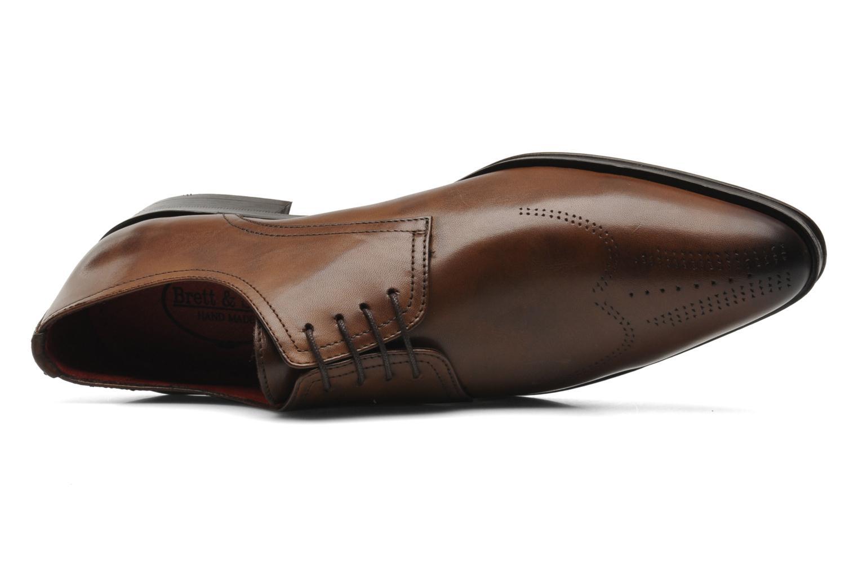 Chaussures à lacets Brett & Sons Mark Marron vue gauche