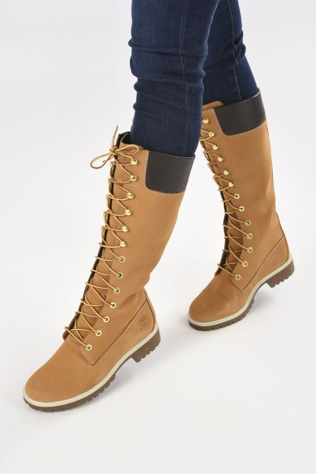 Botas Timberland Women's Premium 14 inch Amarillo vista de abajo