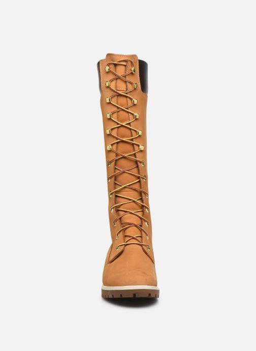 Stivali Timberland Women's Premium 14 inch Giallo modello indossato