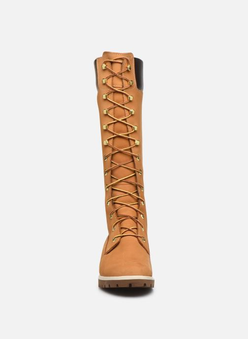 Botas Timberland Women's Premium 14 inch Amarillo vista del modelo