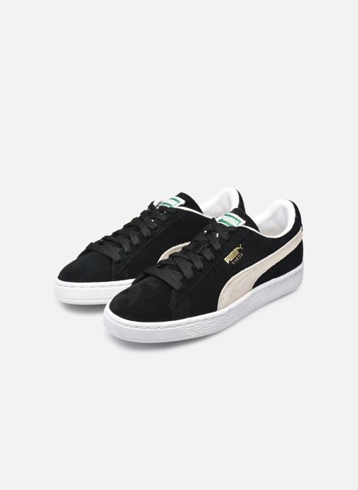 Trainers Puma Suede classic eco W Black view from underneath / model view