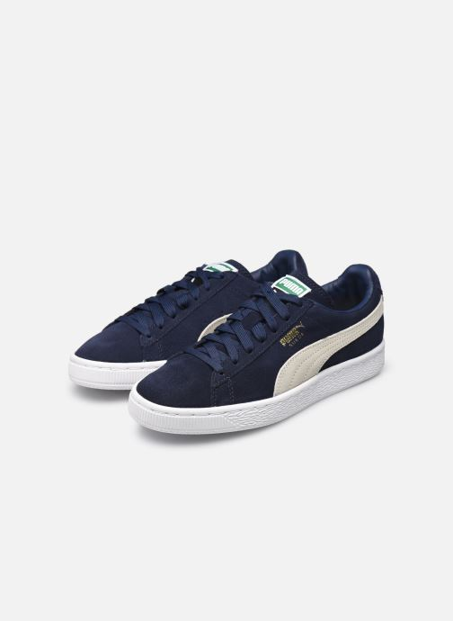 Trainers Puma Suede classic eco W Blue view from underneath / model view