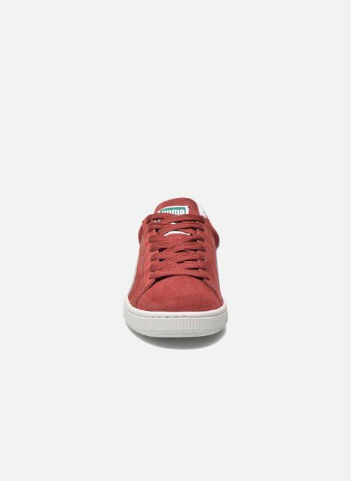 Baskets Puma Suede classic eco W Bordeaux vue portées chaussures
