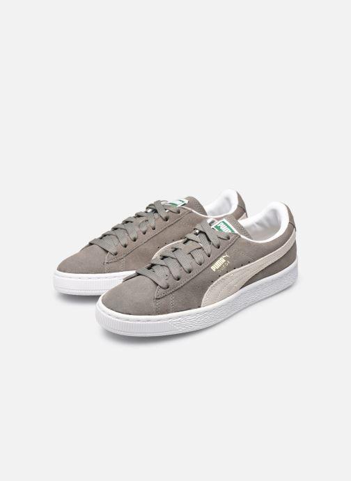 Sneaker Puma Suede classic eco W grau ansicht von unten / tasche getragen