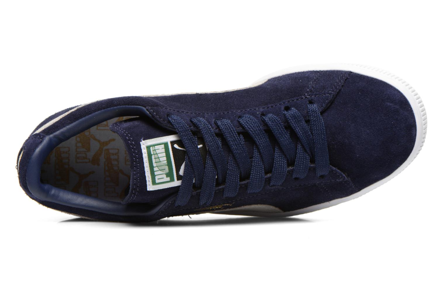 Trainers Puma Suede classic eco W Blue view from the left