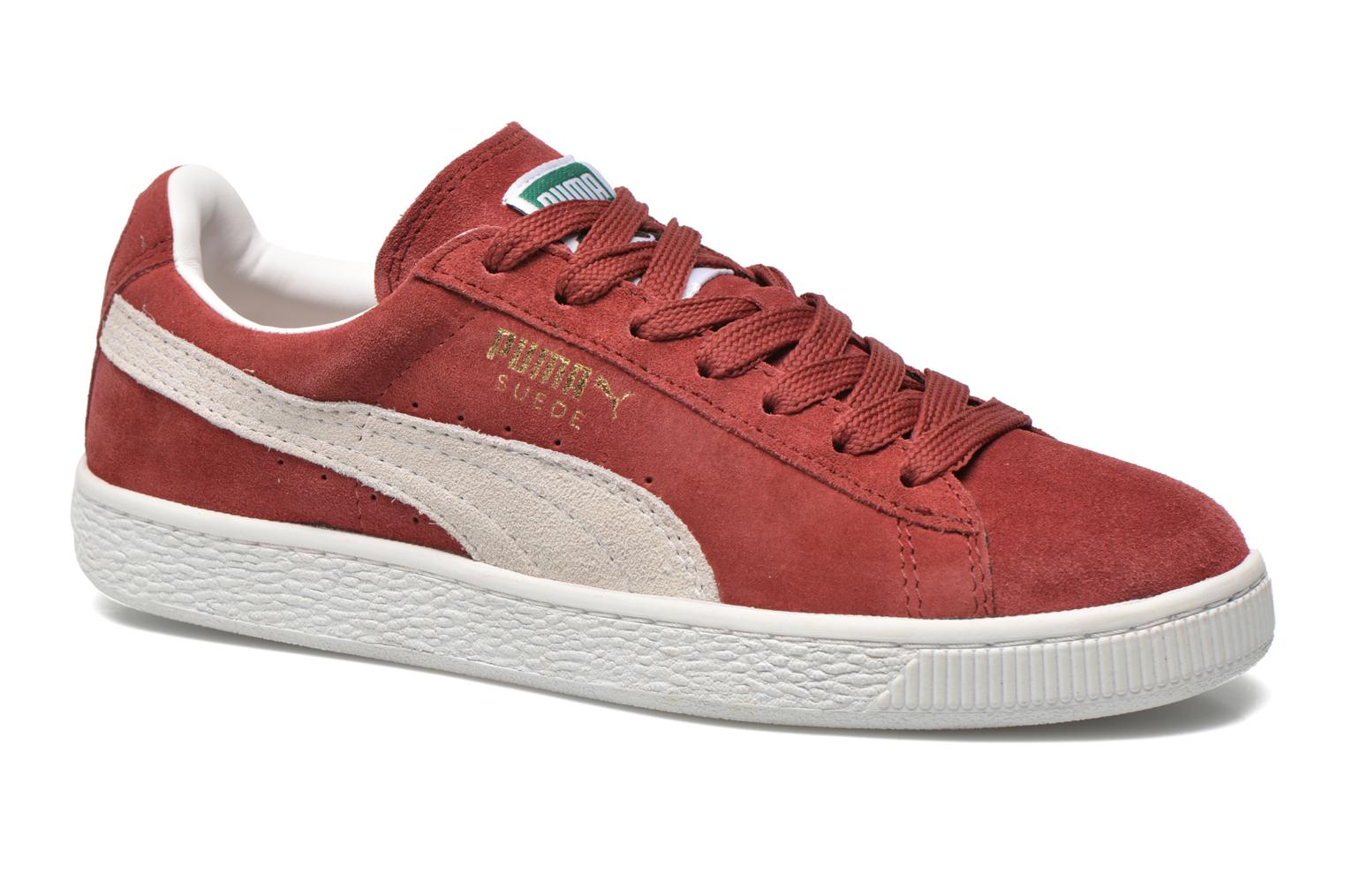 Trainers Puma Suede classic eco W Burgundy detailed view/ Pair view