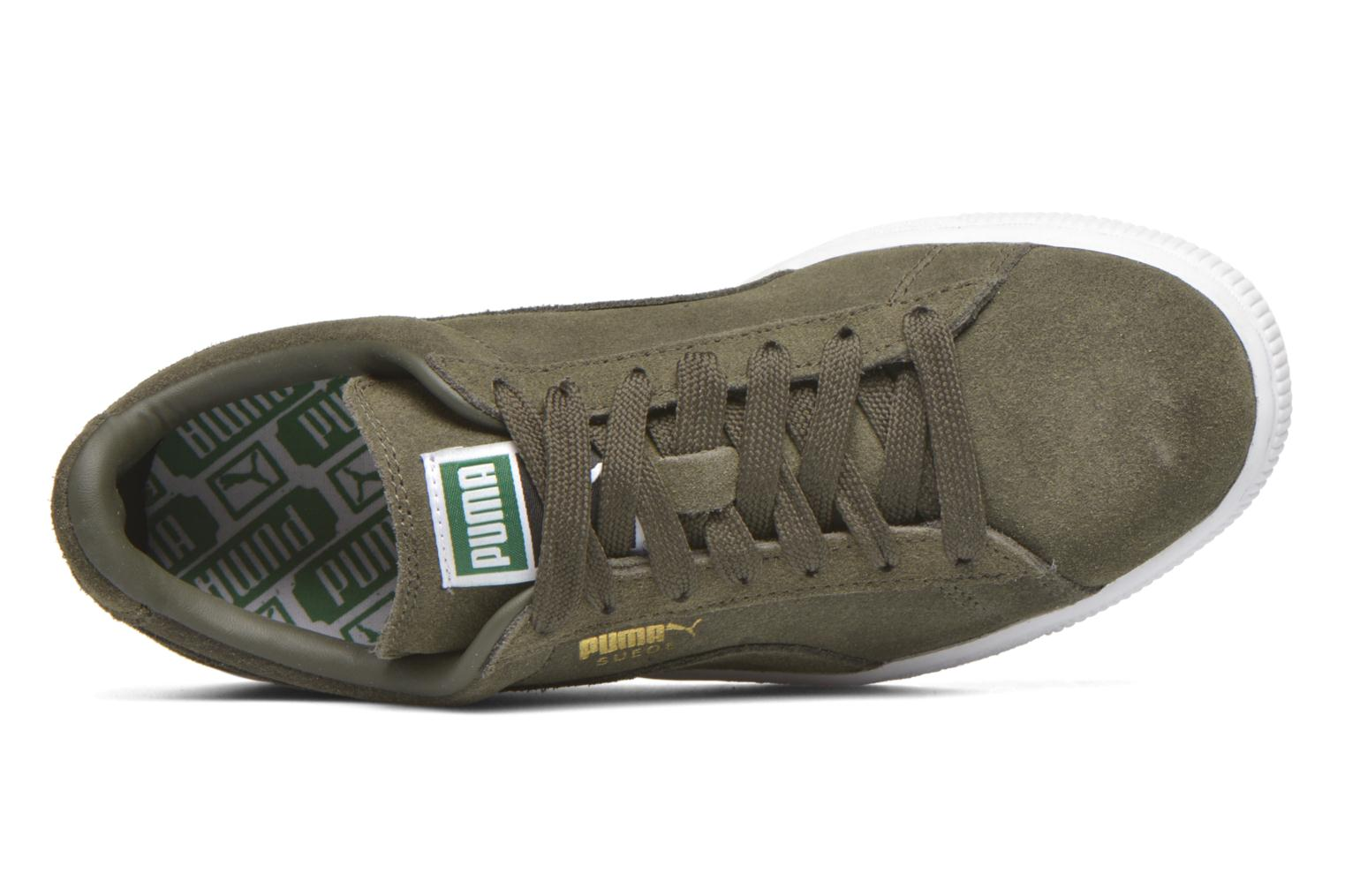 Trainers Puma Suede classic eco W Green view from the left