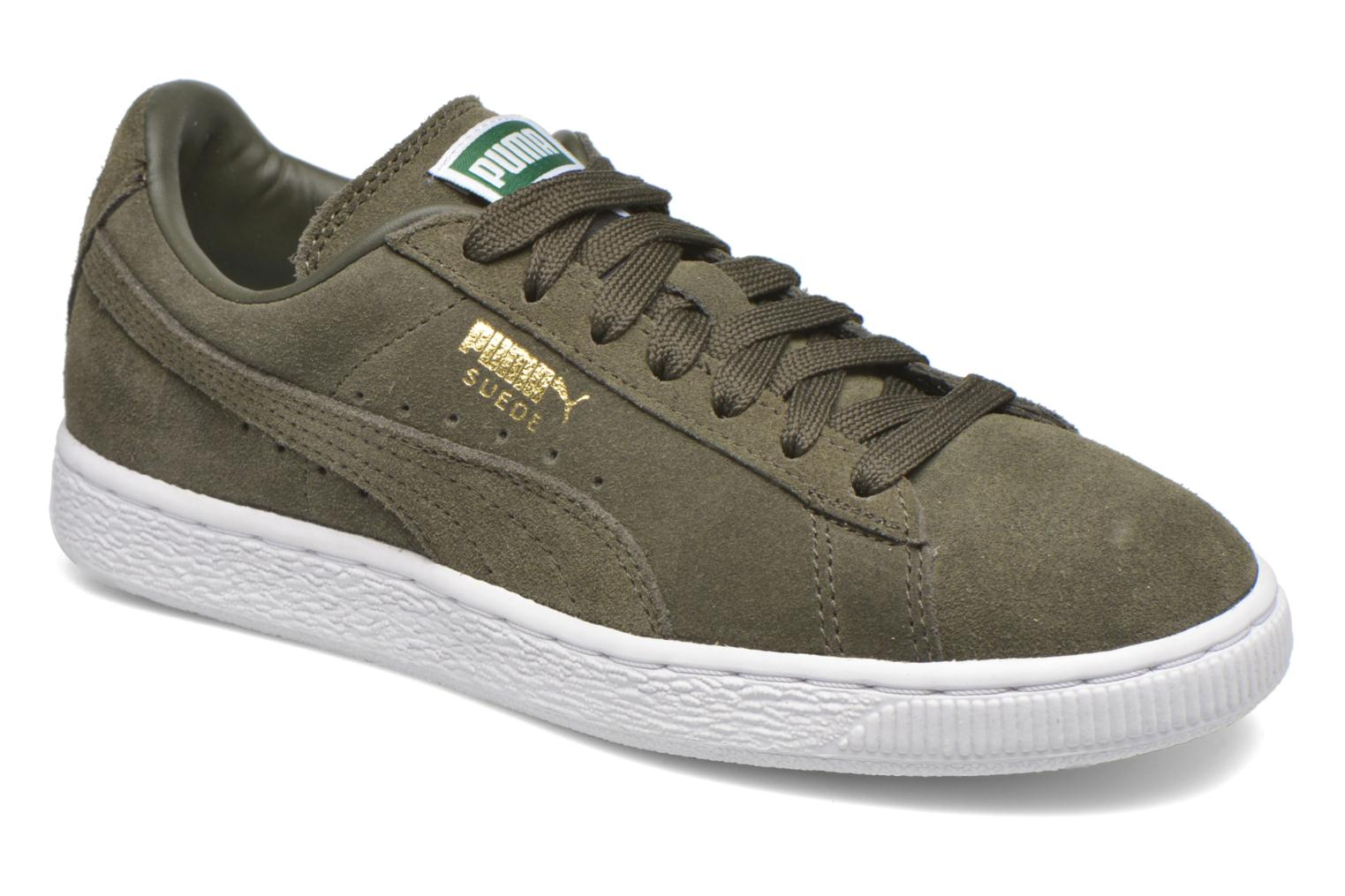 Trainers Puma Suede classic eco W Green detailed view/ Pair view