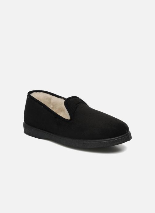Slippers Rondinaud Derval Black detailed view/ Pair view