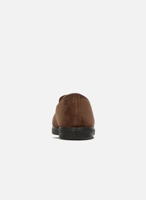 Slippers Rondinaud Derval Brown view from the right