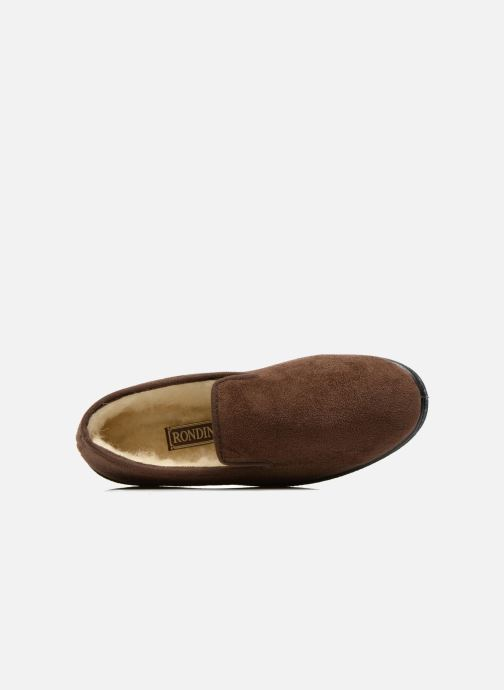 Slippers Rondinaud Derval Brown view from the left