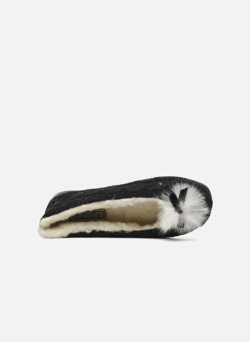 Slippers Rondinaud Abzac Black view from the left