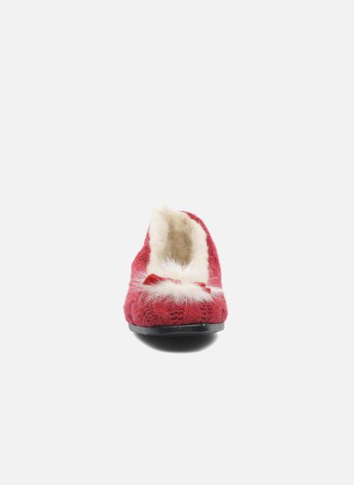 Pantofole Rondinaud Abzac Rosso modello indossato