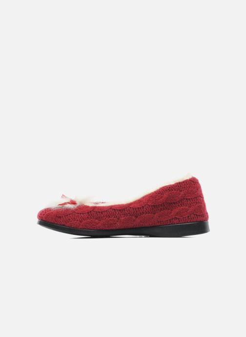 Pantofole Rondinaud Abzac Rosso immagine frontale