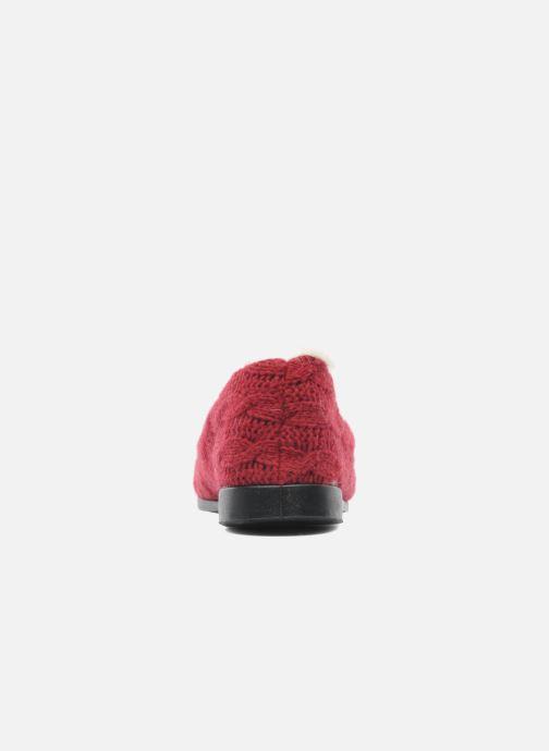 Pantuflas Rondinaud Abzac Rojo vista lateral derecha