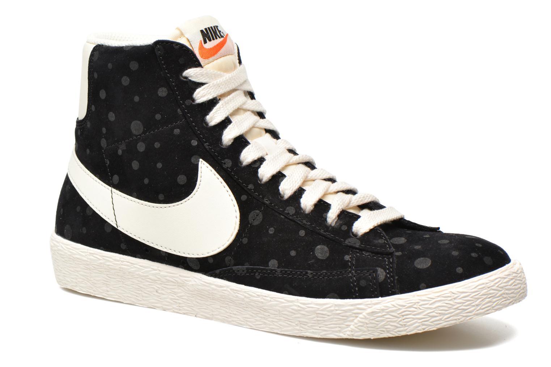 Nike Wmns Blazer Mid Suede Vintage (Noir) Baskets chez Sarenza