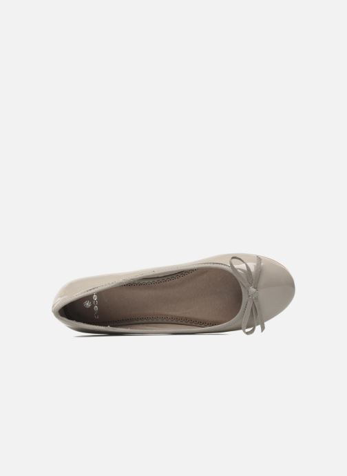 Ballet pumps Pieces Aliah Grey view from the left