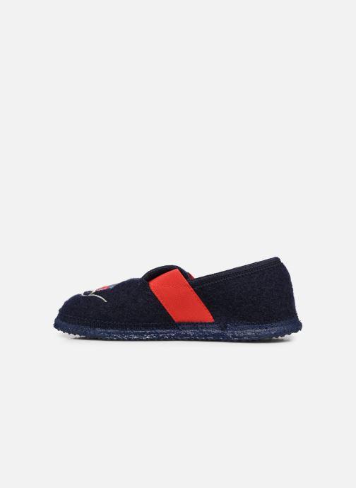 Pantofole Giesswein Trulben Azzurro immagine frontale