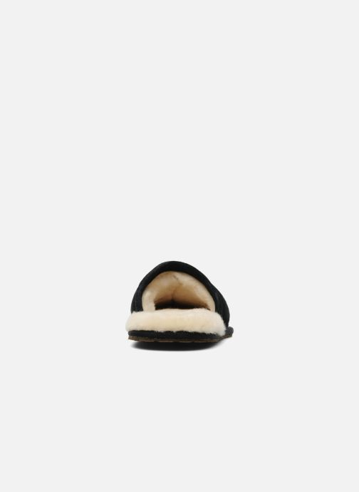 Pantuflas UGG Scuff Negro vista lateral derecha