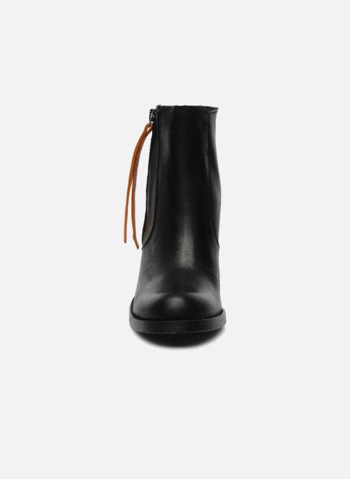 Bottines et boots Pieces Bianka Noir vue portées chaussures