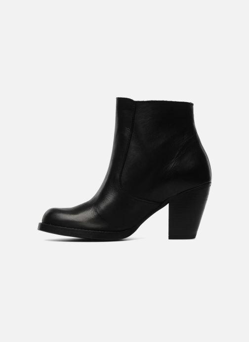 Boots en enkellaarsjes Pieces Bianka Zwart voorkant