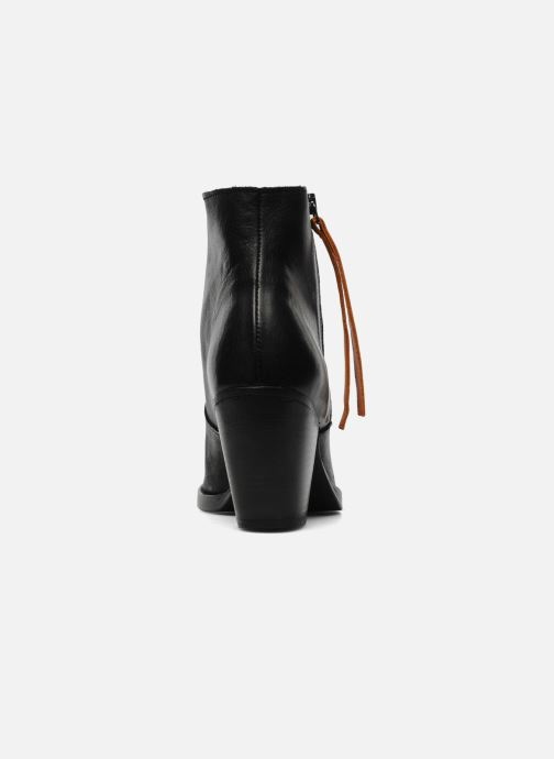 Ankle boots Pieces Bianka Black view from the right