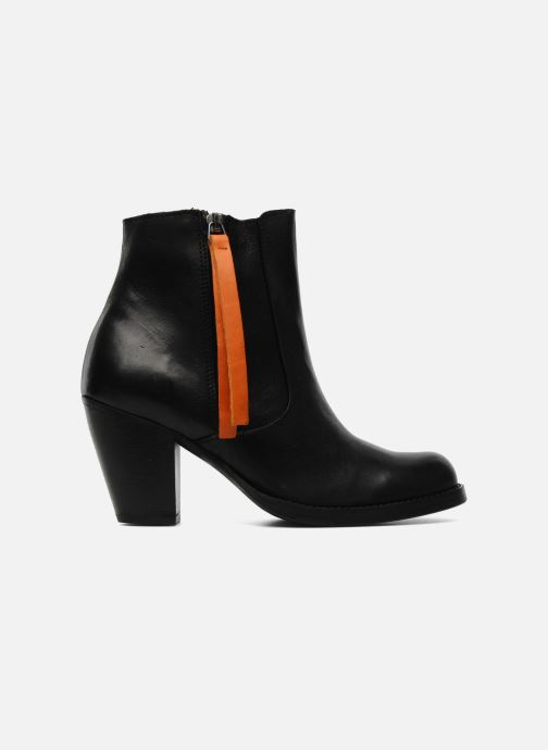 Ankle boots Pieces Bianka Black back view