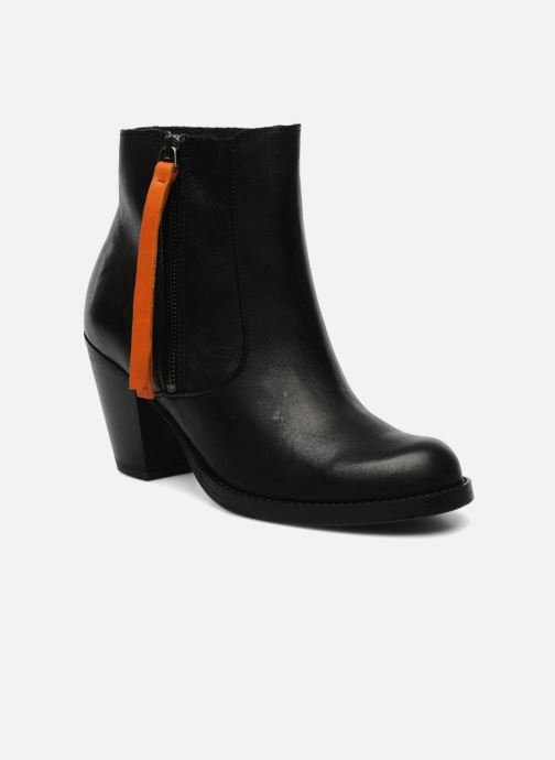 Ankle boots Pieces Bianka Black detailed view/ Pair view