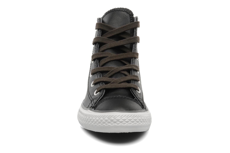 Baskets Converse Chuck Taylor All Star Leather Lampar Hi K Noir vue portées chaussures