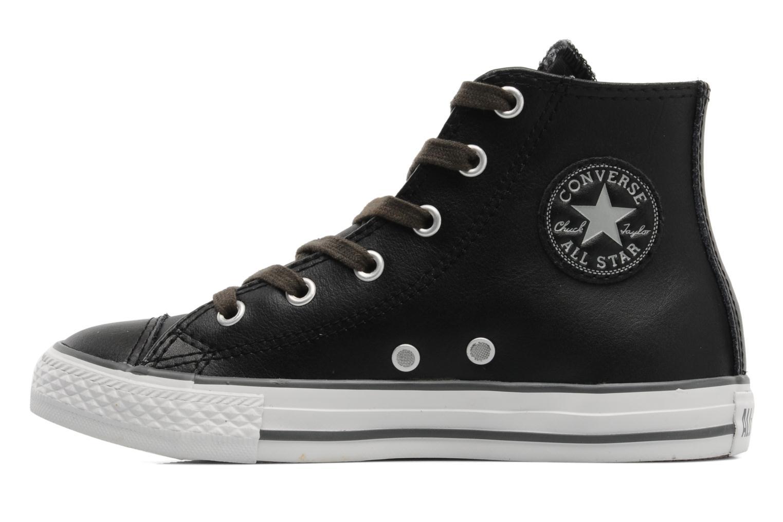 Baskets Converse Chuck Taylor All Star Leather Lampar Hi K Noir vue face