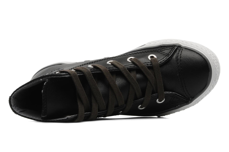 Baskets Converse Chuck Taylor All Star Leather Lampar Hi K Noir vue gauche