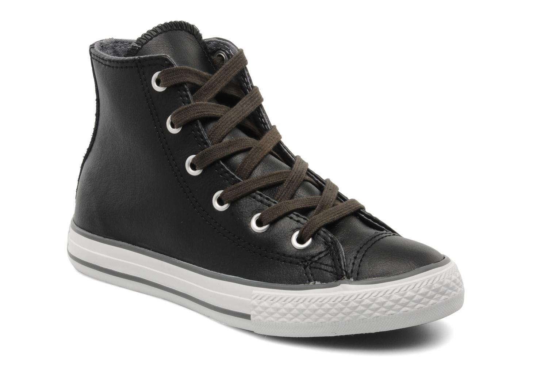 Baskets Converse Chuck Taylor All Star Leather Lampar Hi K Noir vue détail/paire
