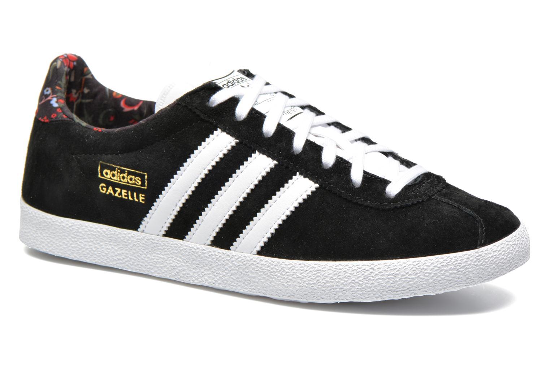 Baskets Adidas Originals Gazelle og w Noir vue détail/paire