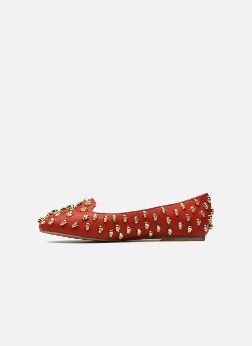 Loafers Jeffrey Campbell Skulltini Red front view