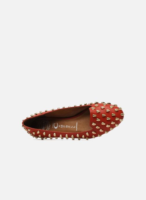 Loafers Jeffrey Campbell Skulltini Red view from the left