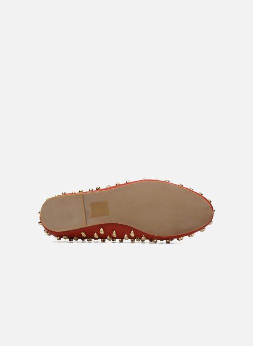 Loafers Jeffrey Campbell Skulltini Red view from above