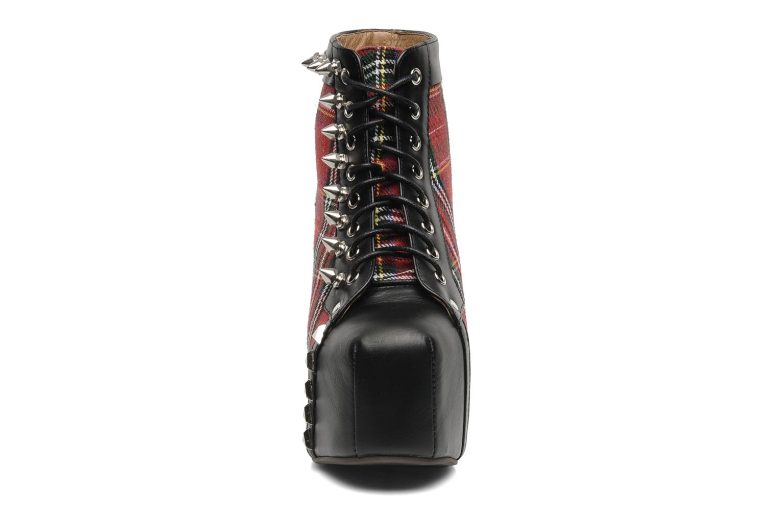 Ankle boots Jeffrey Campbell Half Pipe Red model view