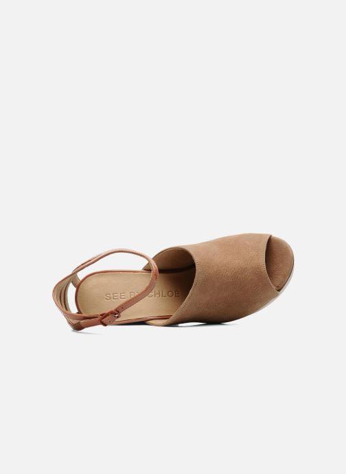 Sandales et nu-pieds See by Chloé Zagora Marron vue gauche