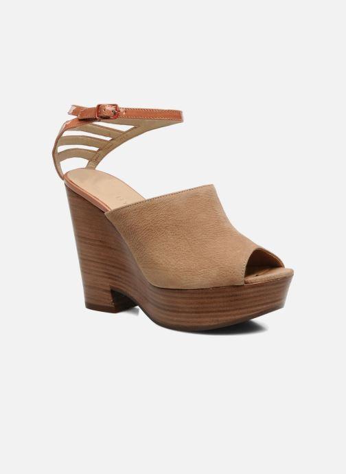 Sandaler See by Chloé Zagora Brun detaljeret billede af skoene