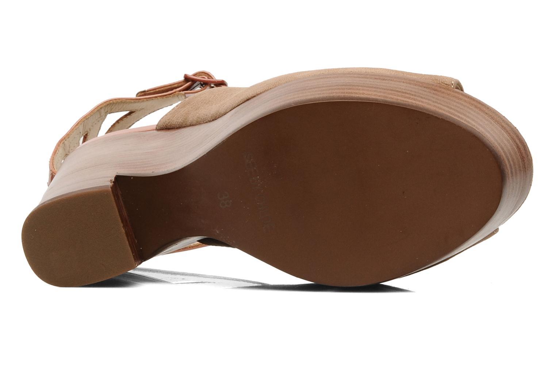 Sandales et nu-pieds See by Chloé Zagora Marron vue haut