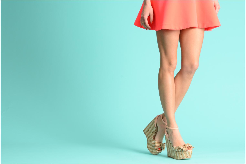Sandales et nu-pieds Mellow Yellow Nereis Beige vue bas / vue portée sac