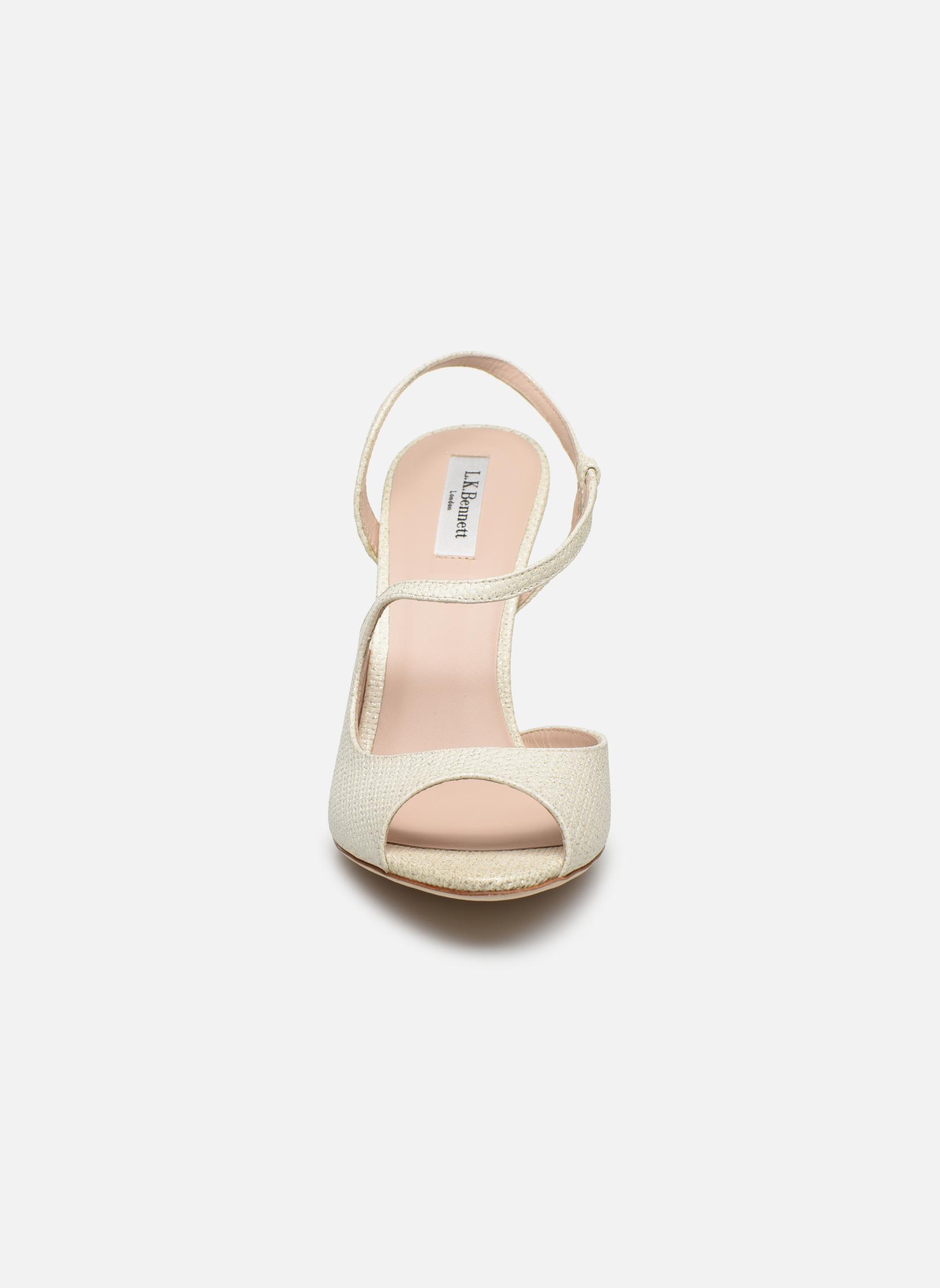 Sandales et nu-pieds L.K. Bennett Palma Or et bronze vue portées chaussures