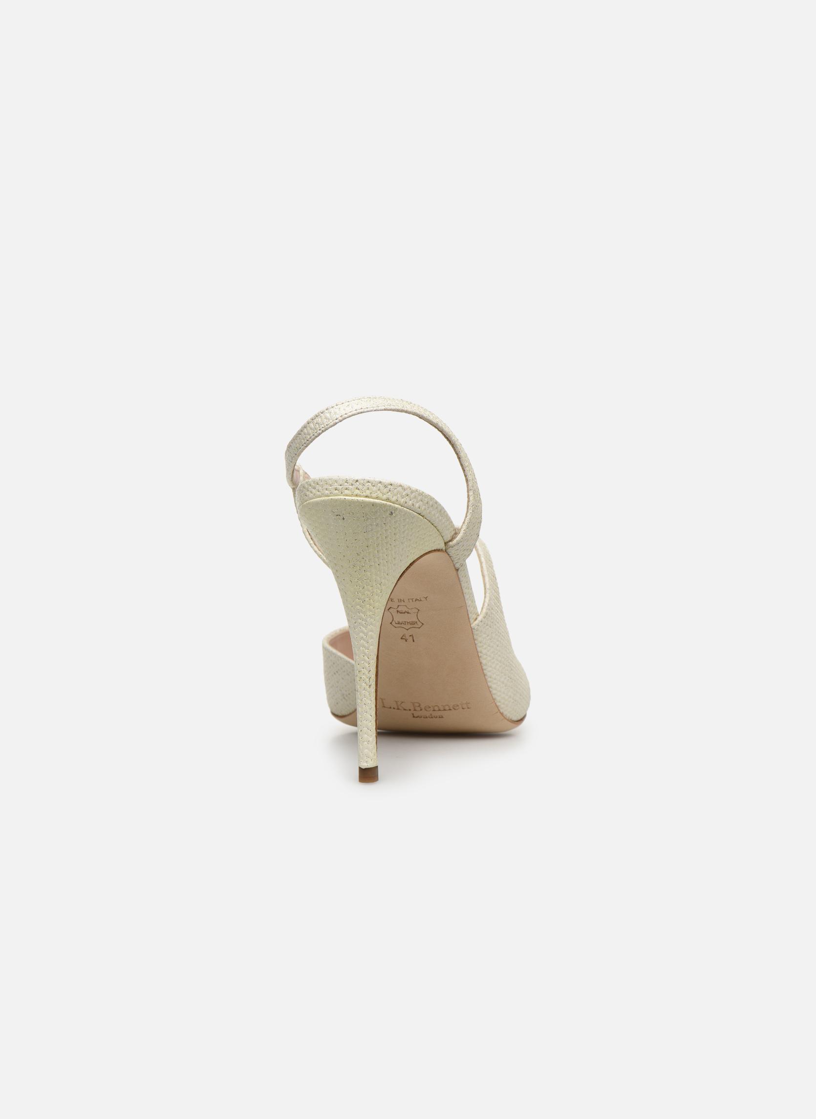 Sandales et nu-pieds L.K. Bennett Palma Or et bronze vue droite