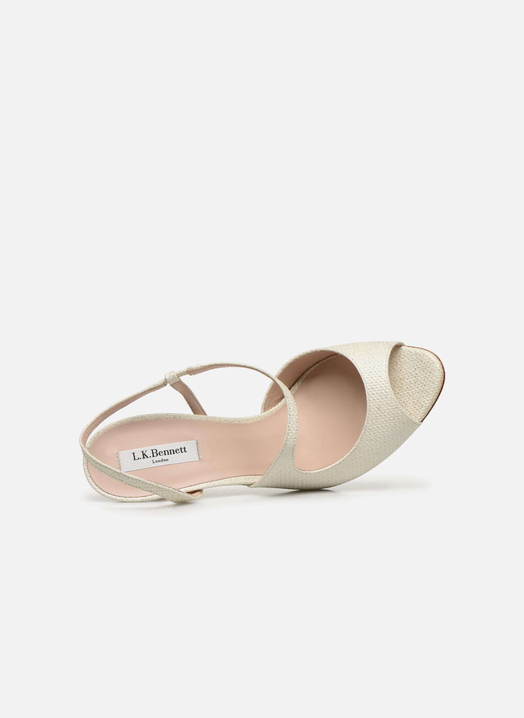 Sandales et nu-pieds L.K. Bennett Palma Or et bronze vue gauche